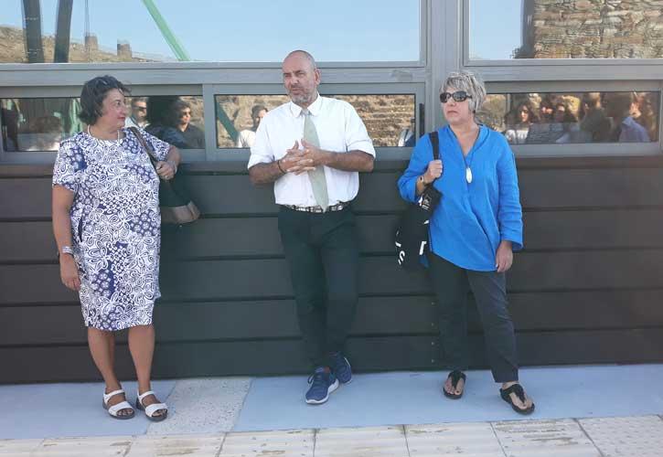 Ο κ. Γιάννης Μιχαήλ, με τις καθηγήτριες κ. Alessandra Porfidia και κ. Patrizia Bisonni