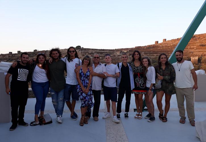 Η ομάδα μας, με τους σπουδαστές που φιλοξενήθηκαν στο εργαστήριό μας